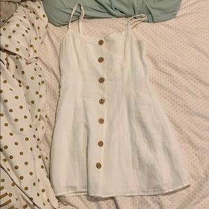 White Urban Outfitters Button Down Skater Dress